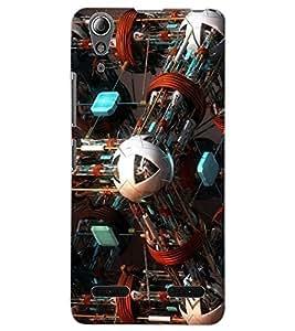 ColourCraft Abstract Image Design Back Case Cover for LENOVO A6000