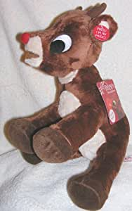 "Musical 12"" Soft Plush Rudolph the Red Nosed Reindeer Doll - Plays Music"