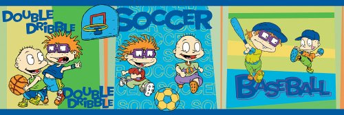 Brewster 147B02103 Nickelodeon Rug Rats Sports Wall Border
