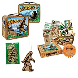 Bigfoot Lunchbox, Research Kit & Air Freshener (Bundle of 3 Items)