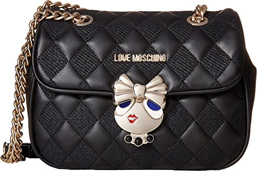 2188590fb3 LOVE Moschino Women s Updated Quilted Crossbody Bag with Love Girl ...