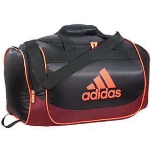 adidas Defender Duffel Bag, 11 3/4 x 20 1/2 x 11-Inch, Black/Dark Red/Solar Red