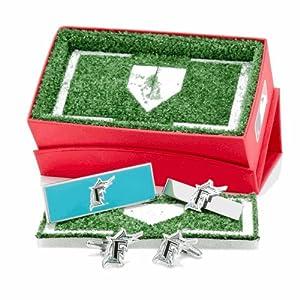 Florida Marlins 3 Piece Cufflink Gift Set by Cufflinks