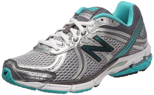 New Balance Women's W770WB2 Silver/Teal Trainer