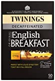 Twinings Traditional English Breakfast Decaffeinated 50 Teabags (Pack of 4, Total 200 Teabags)