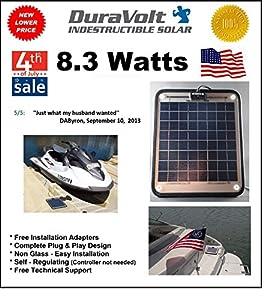 "!! Solar Charger SALE !! - 8.3 Watt Solar Charger - Boat Rv Marine Solar Panel - Semi Flexible - Self Regulating - 12 Volt - No experience Plug & Play Design. Dimensions - 11.8"" L x 10.0"" W x 1/4"" Thick. 10' cable."