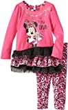 Disney Girls 2-6X Minnie Mouse 2 Pieced Print Dress and Pant