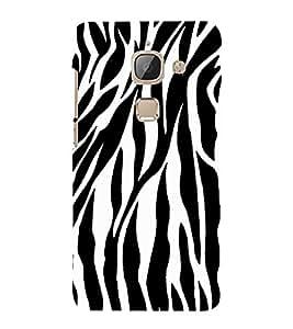 Black & White Zebra Print 3D Hard Polycarbonate Designer Back Case Cover for LeEco Le 2s :: Letv 2S :: Letv 2