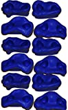 Rock Pegs Small for Indoor & Outdoor Rock Wall to Get Kids Exercise Climbing to Strength Upper Body known as Rock hold - rock climbing wall (Blue(3-Packs))