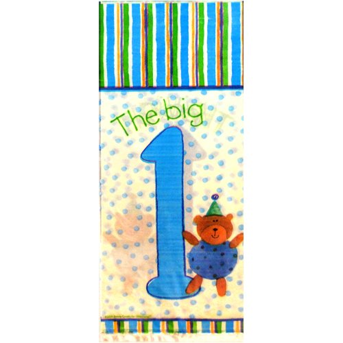 1st Birthday 'The Big One' Teddy Bear Cello Favor Bags (8ct)