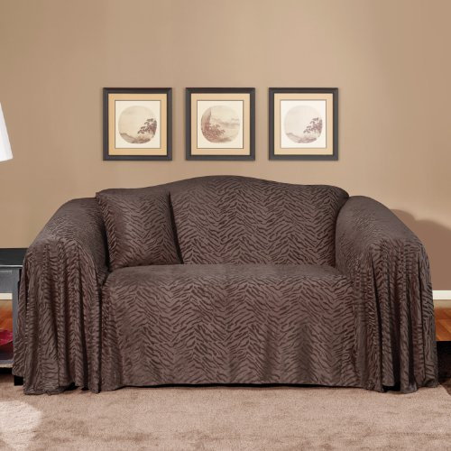 Buy Low Price Sure Fit Plush Animal Loveseat Throw in Espresso (159011117D)