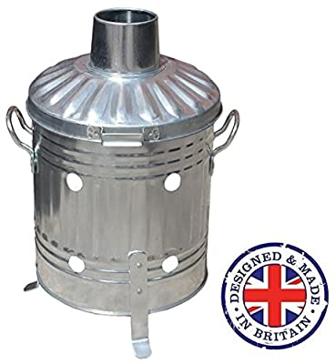 15L Litre Mini Incinerator Small Burner Fire Bin - Ideal for Burning Paper, Leaves, Wood, Rubbish