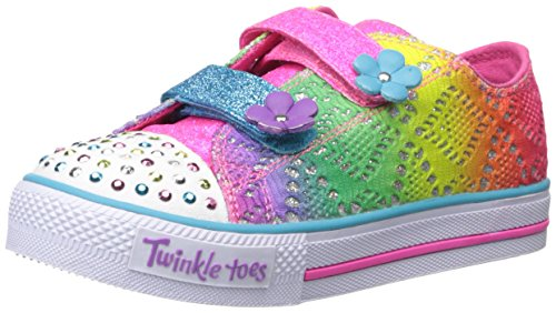 Skechers Kids Shuffles Lil' Rainbow (Toddler/Little Kid), Multi, 9 M US Toddler (Shoes For A Lil Girl compare prices)