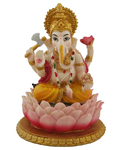 Ganesha Statue, Brightly Colored Hindu Deity