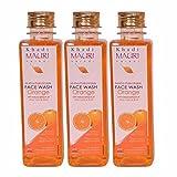 Khadi Mauri Orange Face Wash Pack of 3 Herbal Natural Ayurvedic 250 ml each
