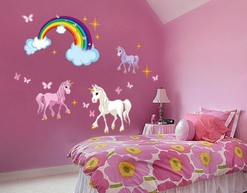 Style & Apply - Unicorn Set - Wall Print Decal, Sticker, Mural Vinyl Art Home Decor