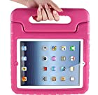 Eastchina® New Fashion Style Super Light Weight Cute Kid Child Shock Proof EVA Foam Handle Stand Super Protection Convertible Protective Cover Case for Apple Ipad Mini 1 & Ipad Mini 2 (A-Pink)