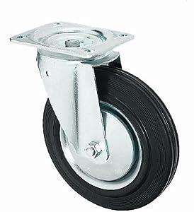 Transportrolle lenkbar 125mm Gummibereifung