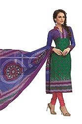 Gugaliya Women's 100 % Cotton UNSTICHED Salwar, Kameez & Dupatta Suit (SJ- 3122)