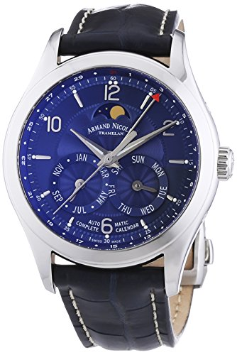 armand-nicolet-mens-automatic-watch-with-blue-dial-analogue-display-and-blue-leather-strap