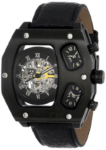 Carlo Monti - CM106-602 - Montre Homme - Automatique - Analogique - Bracelet cuir noir