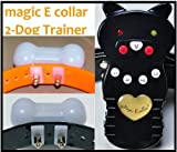 The 3rd Gen Groovypets Rechargeable Remote Control Dog Training Shock Collar Model Magic E collar® MEC-1 with Separate Shock and Vibration Corrections and Bark Control/Anti-Bark for 2 Small,Medium, and Large Dogs