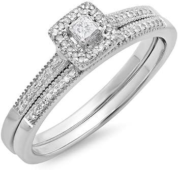 1/4ct Diamond Bridal Set