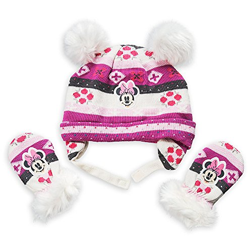 Disney Minnie Mouse Winter Hat and Mittens Set Baby 6-12 Months Pink