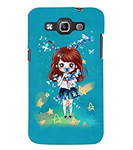 PrintDhaba Doll and Butterfly D-1146 Back Case Cover for SAMSUNG GALAXY QUATTRO (Multi-Coloured)