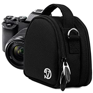 VanGoddy Mini Laurel - BLACK Compact Camera Pouch Cover Bag fits Canon PowerShot G7 X, N100, N Facebook, SX600, SX260, S120, S110 HS