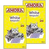 Amora White Katzenstreu mit Babypuderduft 30L