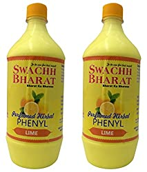 Swachh Bharat Perfumed Herbal Phenyl - 1 L (Pack of 2, Lime)