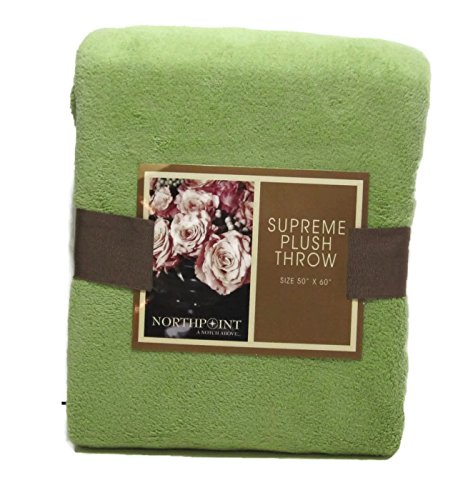 Northpoint Supreme Plush Throw Lime Green front-891472