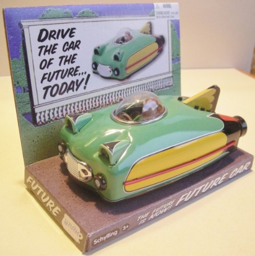 Space car green, Schylling, Tin Toy