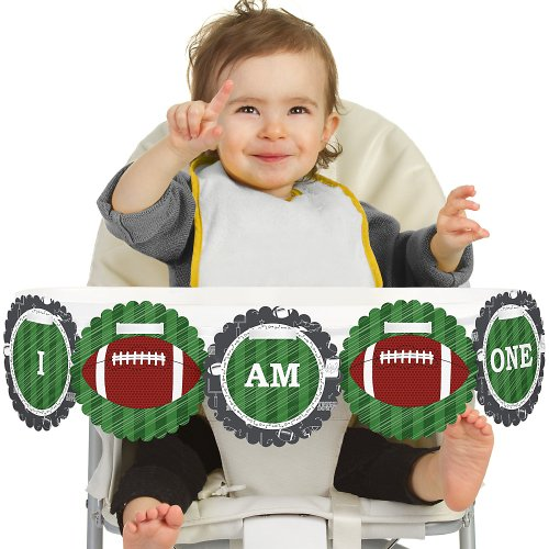 Big Dot Of Happiness End Zone - Football - High Chair Birthday Banner front-691071