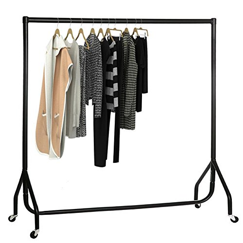 oypla-6ft-garment-clothes-rail-super-heavy-duty-all-metal-black