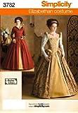 Simplicity Andrea Schewe Pattern 3782 Misses Elizabethan Costume Dresses Sizes 14-16-18-20