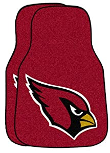 Fan Mats Arizona Cardinals NFL Car Floor Mats (2 Front) FAN-5663 by Fanmats