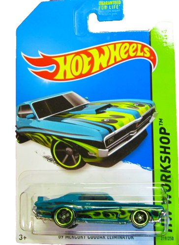 Hot Wheels - 2014 HW Workshop 219/250 - Heat Fleet - '69 Mercury Cougar Eliminator (Blue/Green)
