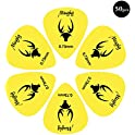 Mugig Guitar Picks, Guitar Accessories, Delrin Guitar Plectrum 1.0MM, Pack of 50