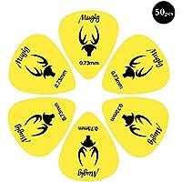Mugig Guitar Picks, Guitar Accessories, Delrin Guitar Plectrum 1.0MM, Pack of 50