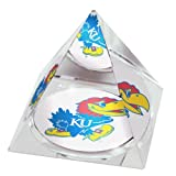 "NCAA Kansas University Jayhawks Mascot in 2"" Crystal Pyramid with Colored Windowed Gift Box at Amazon.com"