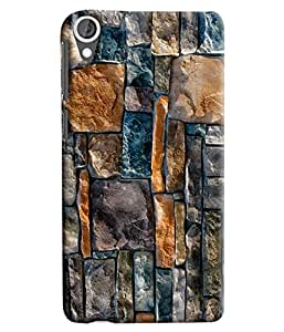 Blue Throat Stone Pattern Printed Designer Back Cover For HTC Desire 820