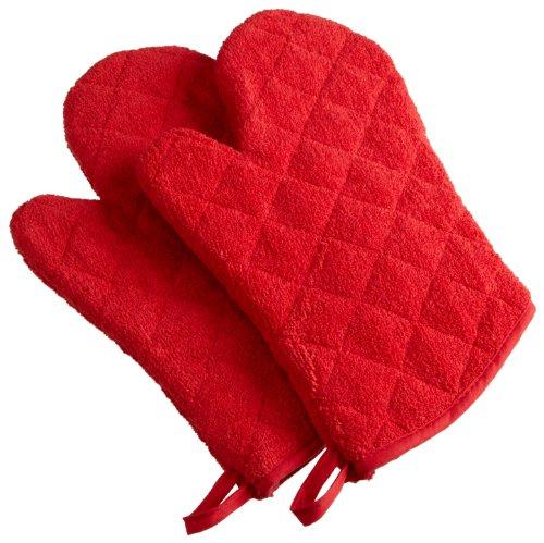DII 100% Cotton, Machine Washable, Heat Resistant, Everyday Kitchen Basic, Terry Oven Mitt, 7 x 13