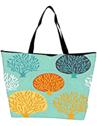 Snoogg Seamless Pattern With Leaf Waterproof Bag Made Of High Strength Nylon - B01I1KN0F2