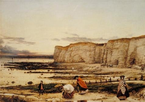 Oil Painting 'William Dyce - Pegwell Bay, Kent - A Recollection Of October 5th 1858' 16 x 23 inch / 41 x 58 cm , on High Definition HD canvas prints is for Gifts And Foyer, Home Office And Lau decor