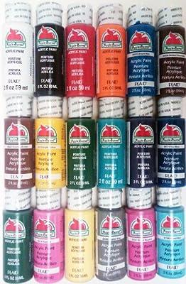 Plaid PROMOABI Apple Barrel Acrylic Paint, 2-Ounce, Best Selling Colors