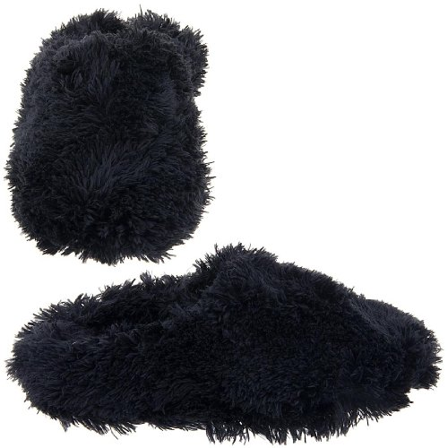 Cheap Black Fuzzy Slippers for Women (B004Z25BGC)
