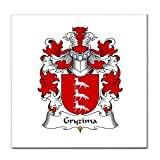 Gryzima Family Crest Tile Trivet Coat of Arms Tile Trivet