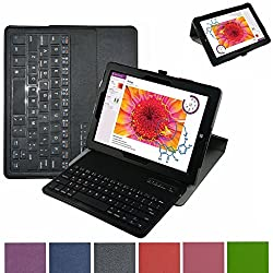 Microsoft Surface 3 Bluetooth Keyboard Case,Mama Mouth Coustom Design Slim Stand PU Leather Case Cover With Romovable Bluetooth Keyboard For 10.8